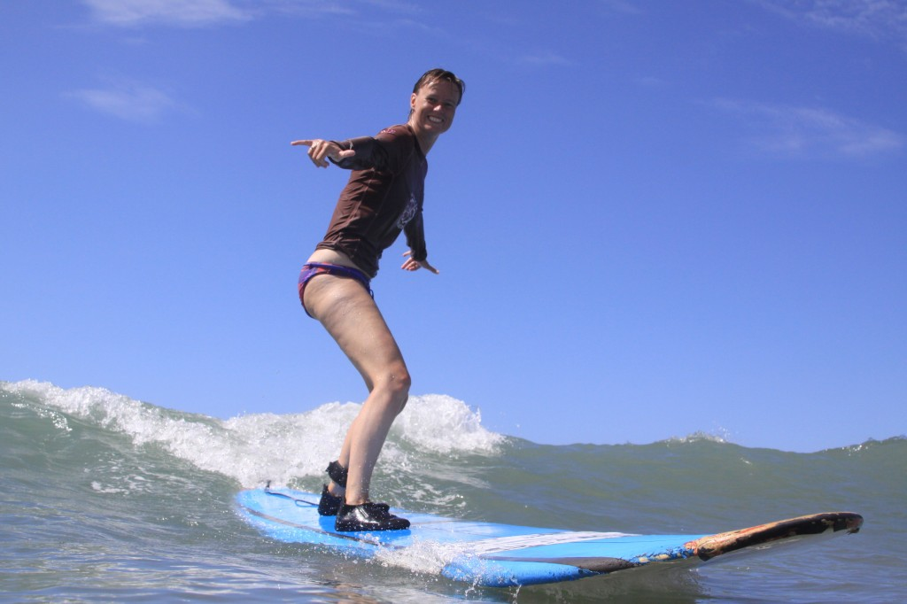 The best ever: surfing on Hawaii! Perfect combination of my 2 hobbies: sports and travelling.