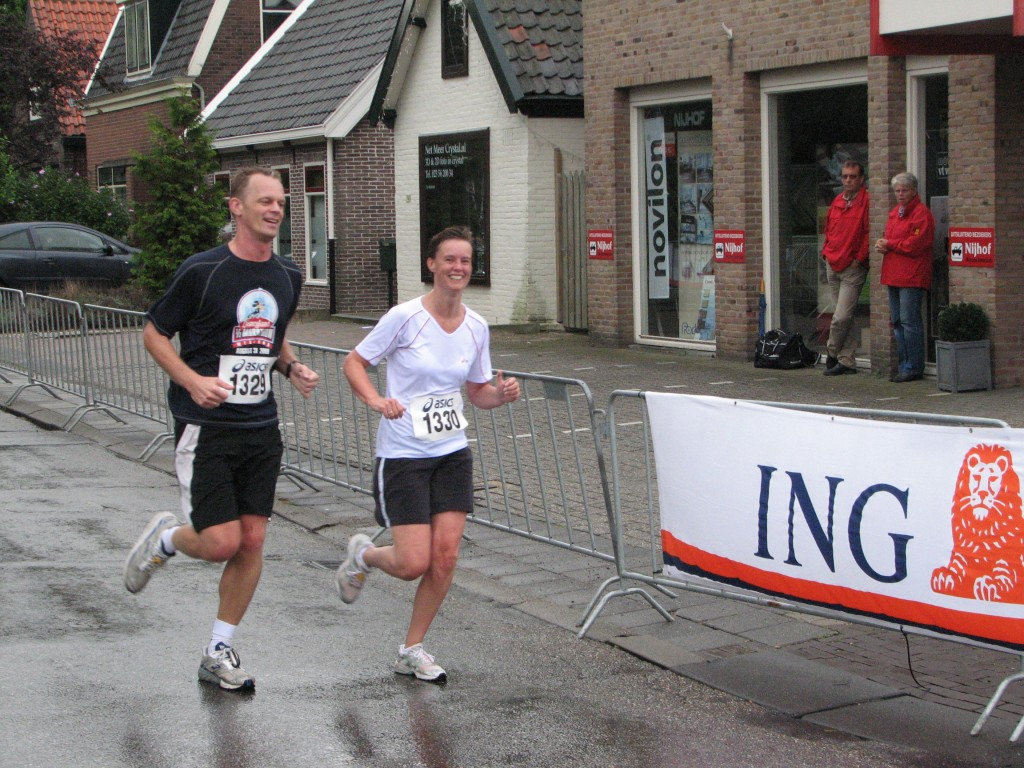 My first 10 kilometers run during the Haarlemmermeer Run.