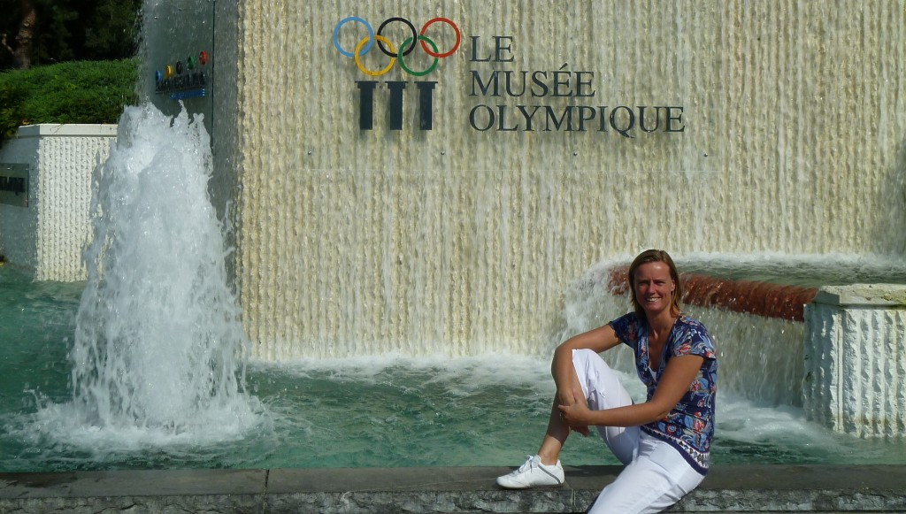 Visiting the Olympic Museum in Lausanne - Switzerland.