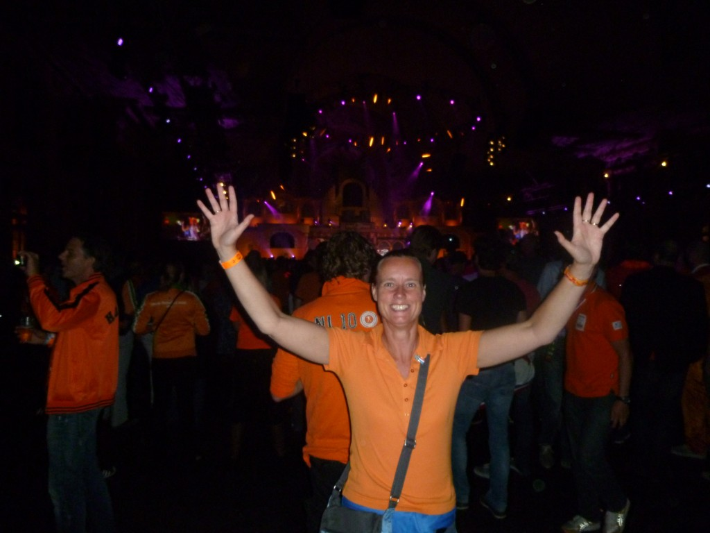 Celebrating the golden Olympic Games medals for the Dutch female swimmers - Holland Heineken House in London.