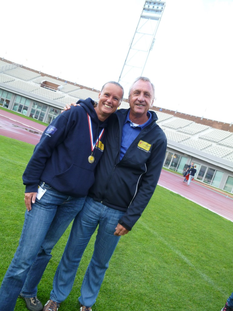 Very proud! World famous Dutch football player and founder of the Johan Cruyff Foundation.