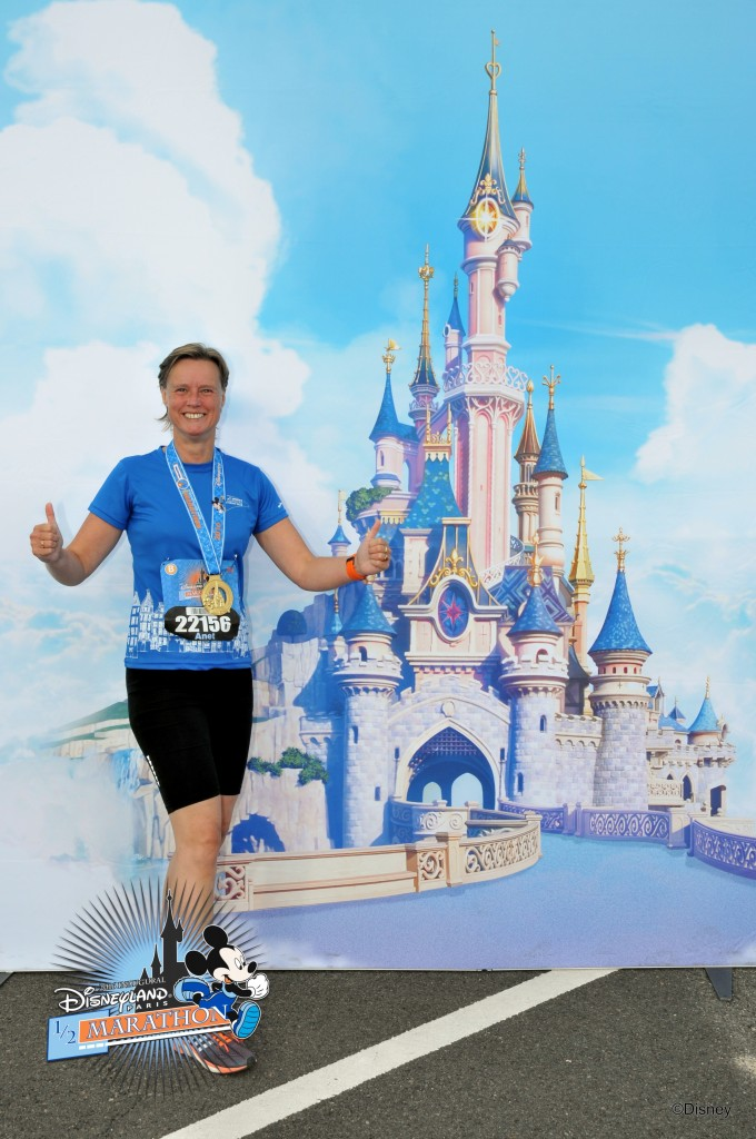 My first half marathon in Disneyland Paris.